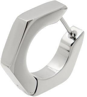 JCPenney FINE JEWELRY Mens Stainless Steel Huggie Hoop Earring