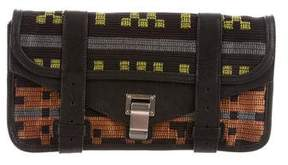 Proenza Schouler Leather-Trimmed PS1 Pouchette