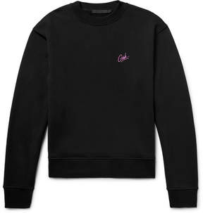 Alexander Wang Embroidered Loopback Cotton-Jersey Sweatshirt