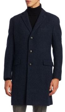 Ralph Lauren Purple Label Basketweave Wool Topcoat