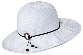Merona Women's Floppy Hat with Brown Tie White