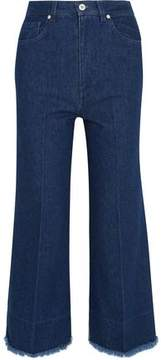 Cédric Charlier Two-Tone High-Rise Wide-Leg Jeans