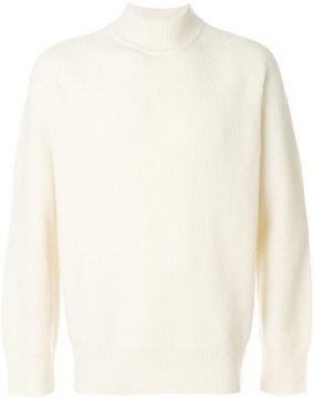 Sacai ribbed turtleneck sweater