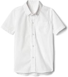 Gap Poplin uniform short sleeve button-down shirt