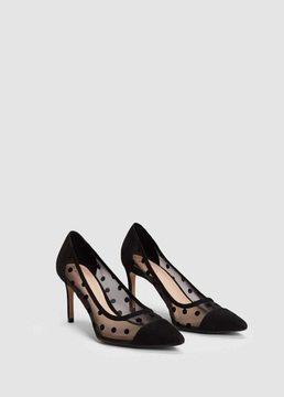 MANGO Plumeti stiletto shoes