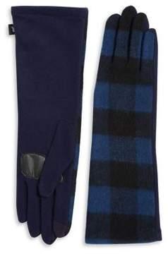 Echo Plaid Long Gloves