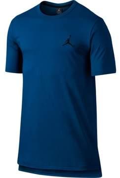 Nike Jordan Men's Core Jumpman Short Sleeve Long T-Shirt-Deep Blue-Small
