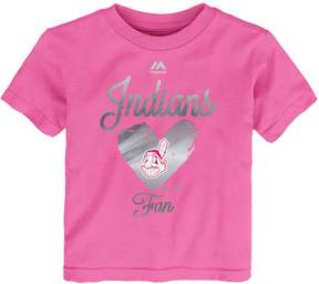 Majestic Baby Girl Cleveland Indians Autograph Tee