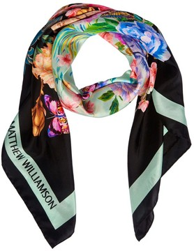 Matthew Williamson Belvoir Dna Silk Square Scarf