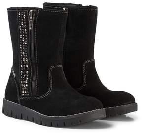 Primigi Black Zip Gore-Tex Ankle Boots with Diamante Detail