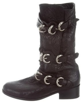 Thomas Wylde Leather Mid-Calf Boots