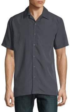 Saks Fifth Avenue BLACK Short-Sleeve Camp Button-Down Shirt