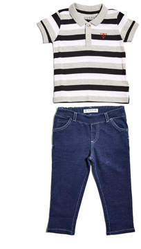 GUESS Logo Polo and Pants Set (0-24m)