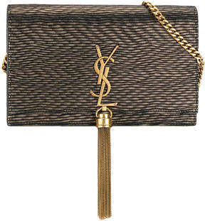 Saint Laurent small Kate tassel satchel - METALLIC - STYLE
