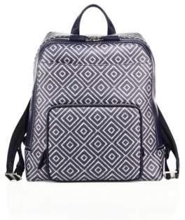 Salvatore Ferragamo Geometric Leather Backpack
