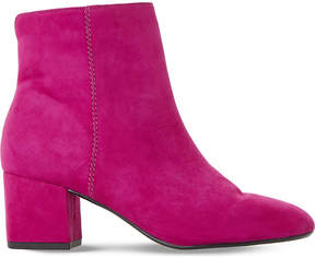 Dune Ladies Pink Olyvea Suede Ankle Boots