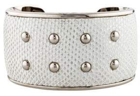 Tod's Embossed Leather Cuff