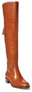 Ralph Lauren Cadyn Over-The-Knee Boot Deep Saddle Tan 5.5