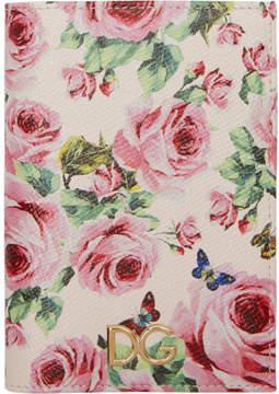 Dolce & Gabbana Pink Floral Passport Holder