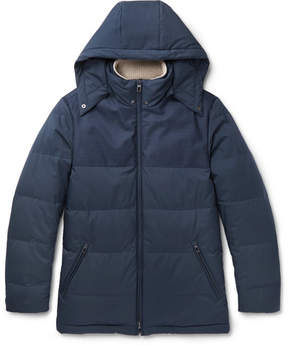 Loro Piana Wind Storm System Virgin Wool And Quilted Shell Down Jacket