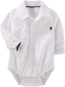 Osh Kosh Oshkosh Bgosh Baby Boy Button Down Bodysuit