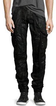 PRPS Resin-Coated Cargo Pants, Black