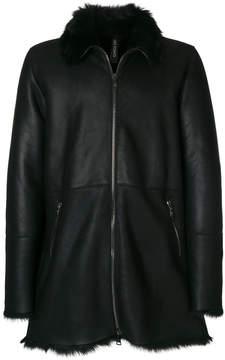 Giorgio Brato shearling trim jacket