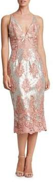 Dress the Population Angela Embroidered Lace Dress