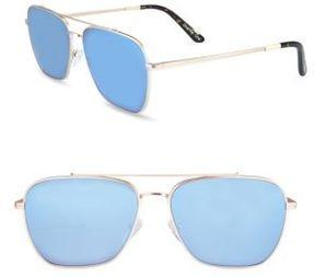 Toms 56MM Mirror Aviator Sunglasses