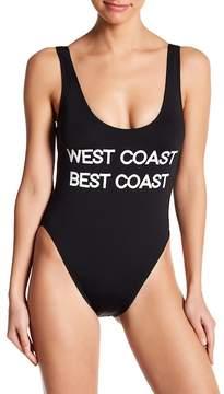 Bikini Lab The Statement Tie Back One-Piece Swimsuit