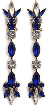 Erickson Beamon 'Silver Screen' Swarovski crystal linear drop earrings