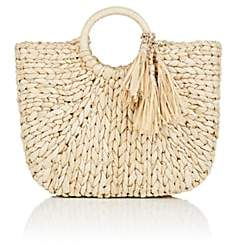 Barneys New York Women's Small Straw Tote Bag - Beige, Tan