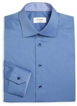 Eton Regular Fit Solid Cotton Dress Shirt