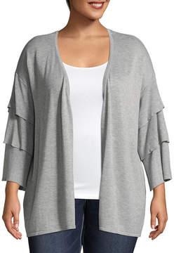 BELLE + SKY Tiered Sleeve Cardigan - Plus