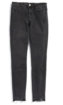 Tractr Girl's Tuxedo Step Hem Skinny Jeans