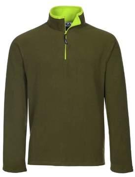 Fila Polartec Fleece Quarter Zip Sweatshirt Army Green XX-Large