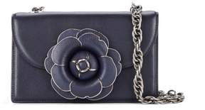 Oscar de la Renta Navy Leather TRO Bag