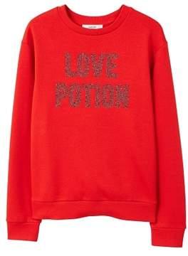 MANGO Appliqu?? message sweatshirt