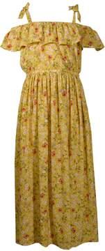 Bonnie Jean Girls 7-16 Floral Print Ruffled Off-The-Shoulder Dress