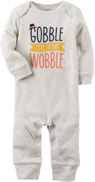 Carter's Baby Gobble 'Til You Wobble Thanksgiving Jumpsuit