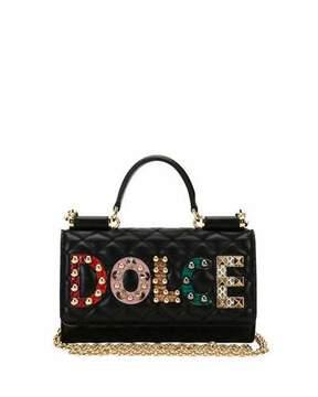 Dolce & Gabbana Miss Sicily Crossbody iPhone Wallet/Case, Black