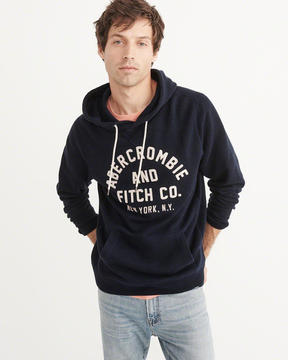 Abercrombie & Fitch Logo Pullover Hoodie