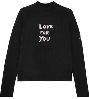 Bella Freud Love For You Cashmere-blend Turtleneck Sweater - Black