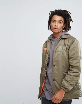 MHI Oversized Coach Jacket In Khaki With Back Print