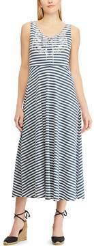 Chaps Petite Striped Jersey Dress