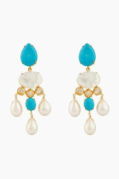 Bounkit Biwa Pearls, Turquoise, & Citrine Convertible Earrings