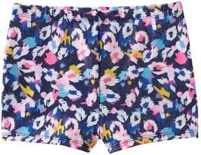 Jacques Moret Girls 4-14 Cool Spots Metallic Shorts