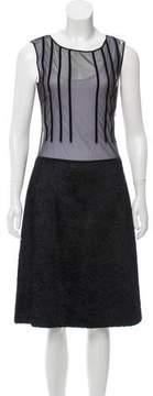 Alessandro Dell'Acqua Texture-Accented Midi Dress