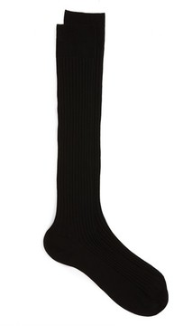 Pantherella Men's Cotton Lisle Blend Over The Calf Socks
