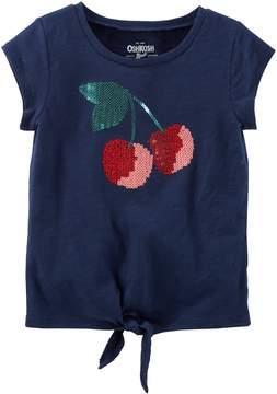 Osh Kosh Oshkosh Bgosh Toddler Girl Sequin Graphic Knot-Front Tee
